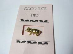Good Luck Pig Pin Brooch