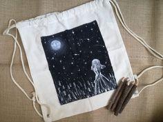 Girls Bags, Drawstring Backpack, Backpacks, Painting, Painting Art, Backpack, Paintings, Painted Canvas, Backpacker