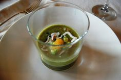 Asparagus & Spinach Chilled soup recipe from Chef Kathleen Flinn