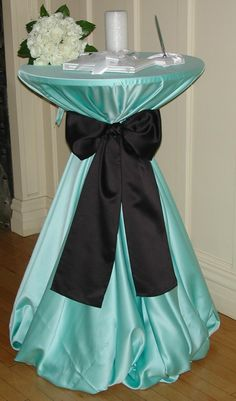 Tiffany's blue reception table