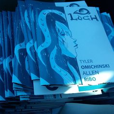Hot off the press! After a lot of hard work and hustling Loch is finally printed. Thanks to @alndraw for the beautiful job on the artwork. I can't wait to get this comic out into the world.  #comics #art #writersoftoronto #indiecomics #torontocomics #lovecraft