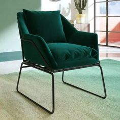 Small Accent Chairs, Accent Chairs For Living Room, Formal Living Rooms, Velvet Accent Chair, Chair Pictures, Office Chair Without Wheels, Home Office Chairs, Metal Beds, Upholstered Beds