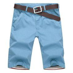 Men's Shorts, Summer Casual cotton Slim Bermuda Beach Length