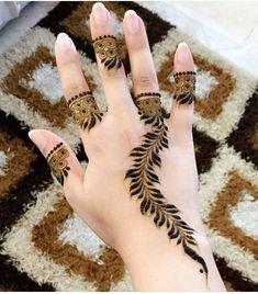 Lovely Arabic Henna Mehndi Design for Hands Finger Henna Designs, Beginner Henna Designs, Henna Art Designs, Mehndi Designs 2018, Mehndi Designs For Girls, Modern Mehndi Designs, Mehndi Designs For Fingers, Arabic Mehndi Designs, Bridal Mehndi Designs