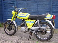 Moped Photo Gallery - KTM Comet Racer, Yellow