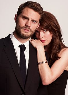 Jamie Dornan and Dakota Johnson in Cine Premiere