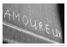 Amoureux als Premium Poster von MAIMOUSELLE | JUNIQE