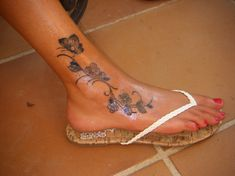 TattoosKid Butterfly And Flower Vine Tattoos On Ankle Caymancode Tattoo