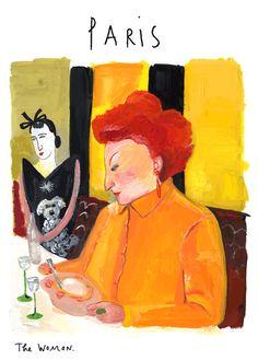 Maira Kalman - Paris Illustrations, Illustration Art, Magazine Illustration, Maira Kalman, New Fine Arts, Sketchbook Project, Vintage Poster, Vector Portrait, Whimsical Art