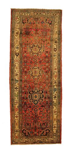 TRADITIONAL PERSIAN HAMADAN RUG 104 cm x 280 cm