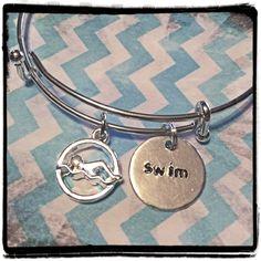A personal favorite from my Etsy shop https://www.etsy.com/listing/230304832/swim-bracelet-swimmers-charm-bracelet