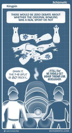 """Kingpin"" -- Image: http://schizmatic.com/files/kingpin.jpg  -- Page: http://schizmatic.com/comics/99 -- Schizmatic: A Webcomic Of Intelligent Weirdness"