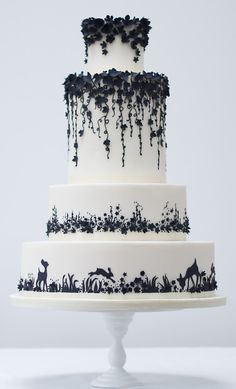 Almost too gorgeous to eat.  Enchanted Forrest Wedding Cake Rosalind Miller Cakes