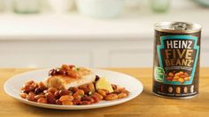 Make a simple, low-fat dinner for four tonight with Heinz Five Beanz and paprika-seasoned halibut. Best of all, there won't be much washing up to do!
