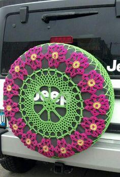 crochet spare tire cover