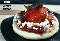 Mini Greek Pizzas (with Greek wine pairings - love!)