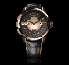 After over two years of construction, Christophe Claret developed its Poker model. The timepiece allows for a real game of Texas Hold'em poker with three players, powered by  mechanical movement.