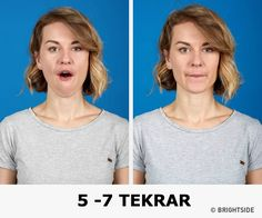 The better way to get rid of a double chin is generally through diet and exercise. If you would like to lose weight your chin area, there are several Yoga Facial, Facial Muscles, Double Chin Exercises, Neck Exercises, Facial Exercises, Reduce Double Chin, Good Posture, Eat Right, How To Get Rid