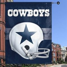 Proudly fly the colors of your Dallas Cowboys with this throwback helmet banner that you can display in your fan cave, from your home, or wherever your fandom desires.