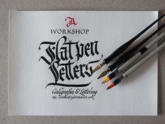 Workshop Flat pen Letters by Jackson Alves, via Behance