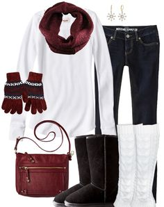 Simple Cute Winter Outfit http://www.lrpvcgi.com $89.99 cheap ugg boots, ugg shoes 2015, fashion winter shoes