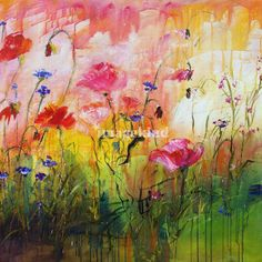 """""""Wildflowers Original Painting by Ginette Callaway"""" by Ginette Callaway, Georgia // The original is sold. Please contact me for commission requests ginette@ginettefineart.com // Imagekind.com -- Buy stunning fine art prints, framed prints and canvas prints directly from independent working artists and photographers."""