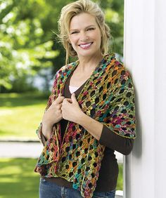 Crochet Pattern Name: Holey Moley Shawl Pattern by: Edie Eckman Crochet Prayer Shawls, Crochet Shawls And Wraps, Crochet Scarves, Crochet Clothes, Crochet Wrap Pattern, Free Crochet, Knit Crochet, Shawl Patterns, Knitting Patterns