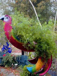 So many inspirational photos on what to do with old tyres! Includes a link to a tutorial on how to make tyre planters