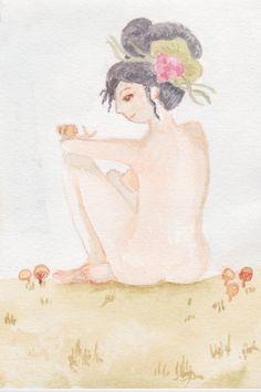 Acuarela, Liliana, ilustración