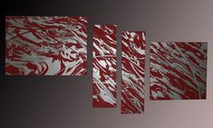 How to make a fluid painting in red and silver - Toulouse - Gecko Bilder...