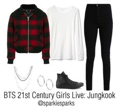 """BTS 21st Century Girls Live: Jungkook"" by sparkiesparks on Polyvore featuring Gap, Diesel, Converse, Sterling Essentials, cute, outfit, love, kpop and bts"