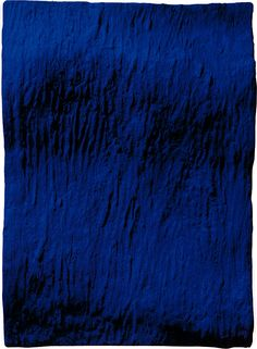 Yves Klein: La Vague (IKB 160 C) 1957/1990. Pigment and synthetic resin on bronze. Conceived by Klein in 1957, cast by Jean-Paul Ledeur in Paris, 1990. #Phillips