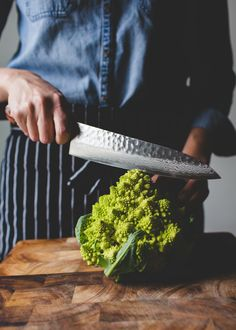 The Vegetable Butcher Shows You How to Break Down Romanesco - Cauliflower Cousin Goulash, Broccoli Recipes, Vegetable Recipes, Veggie Dishes, Romanesco Broccoli, Romanesco Cauliflower Recipe, Cooking Tips, Cooking Recipes, Bountiful Baskets