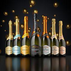 visualization of a Champagne bottle SHABO on Behance Wine Design, Bottle Design, Label Design, Packaging Design, Pill Bottles, Liquor Bottles, Glass Bottles, Bottle Mockup, Bottle Labels
