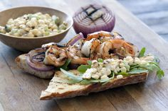 Grilled Shrimp Po Boy Sandwich with Farmers Market Relish
