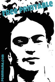 FREE Frida Kahlo Printable from Pearmama.com!