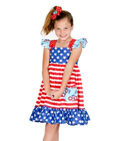 Love this Red & Blue Cally Dress - Infant, Toddler & Girls by Jelly the Pug on #zulily! #zulilyfinds