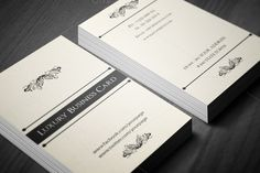 Check out Classic Luxury Business Card 3 in 1 by felicidads on Creative Market