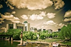 Port at The Forks in Winnipeg, Canada - Photo by Carla Dyck Great Places, Places To Go, Beautiful Places, O Canada, Canada Travel, Travel Sights, Backyard Plan, Spring City, Western Canada