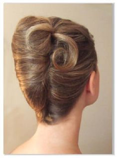 french twist with curly hair - Google Search