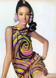 Marisa Berensen in a Gino Charles dress, photograph by Irving Penn for Vogue 1967