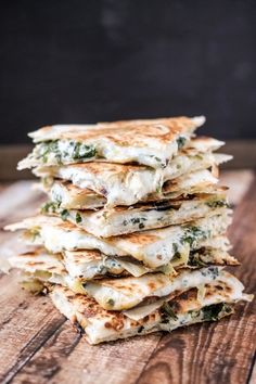 Spinach Artichoke Quesadillas | 17 Cheesy AF Quesadillas You Need In Your Life