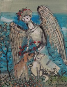 Dog, Cat and Angel - Roubinov