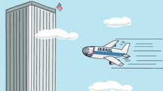 A new cartoon showing Israeli Prime Minister Benjamin Netanyahu was behind the 9/11 attacks has heightened the recent tensions between the United States and Israel.  Israeli artist Amos Biderman drew the cartoon that shows Netanyahu was the pilot of an airplane that hit the World Trade Center in New York on September 11, 2001.