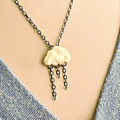Rainy Cloud Necklace now featured on Fab.
