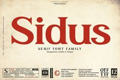 Sidus - Serif font family by Artistic & Unique Best Serif Fonts, Handwritten Fonts, Typography Fonts, Lettering, Tattoo Fonts Cursive, Currency Symbol, Stylish Fonts, Retro Font, Vintage Fonts