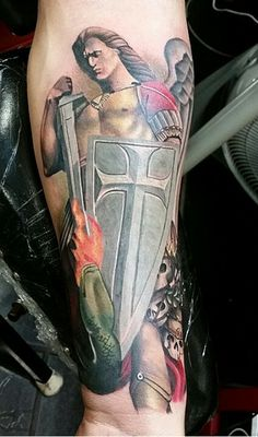 St Michael tattoo                                                                                                                                                     More