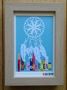 MiniMix Dreamcatcher en 13x17cm  www.facebook.com/lettremix