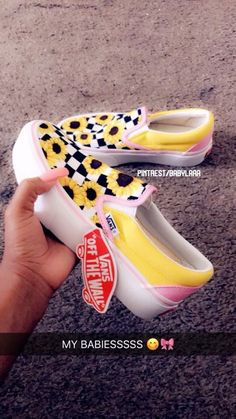 new styles b8a72 92c47 Sunflower Vans, Cute Vans, Aesthetic Shoes, Vans Shoes, Sock Shoes, Shoes