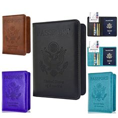 Usa Double-headed Eagle Convenient Pink Pu Leather Passport Holder Built In Rfid Blocking Protect Personal Information Clients First Coin Purses & Holders